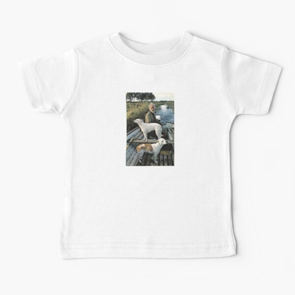 Beard Man Dogs Boat Baby T-Shirt