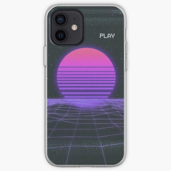 Synthwave Nostalgia Sunset iPhone Soft Case