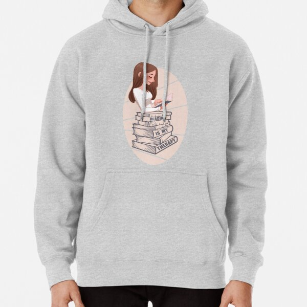 Reading Is My Therapy Pullover Hoodie