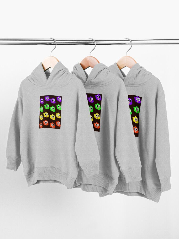 Alternate view of Rainbow Happy Gumball Watterson Toddler Pullover Hoodie