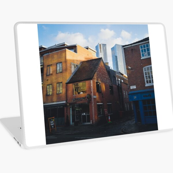 Old and new in Manchester Laptop Skin