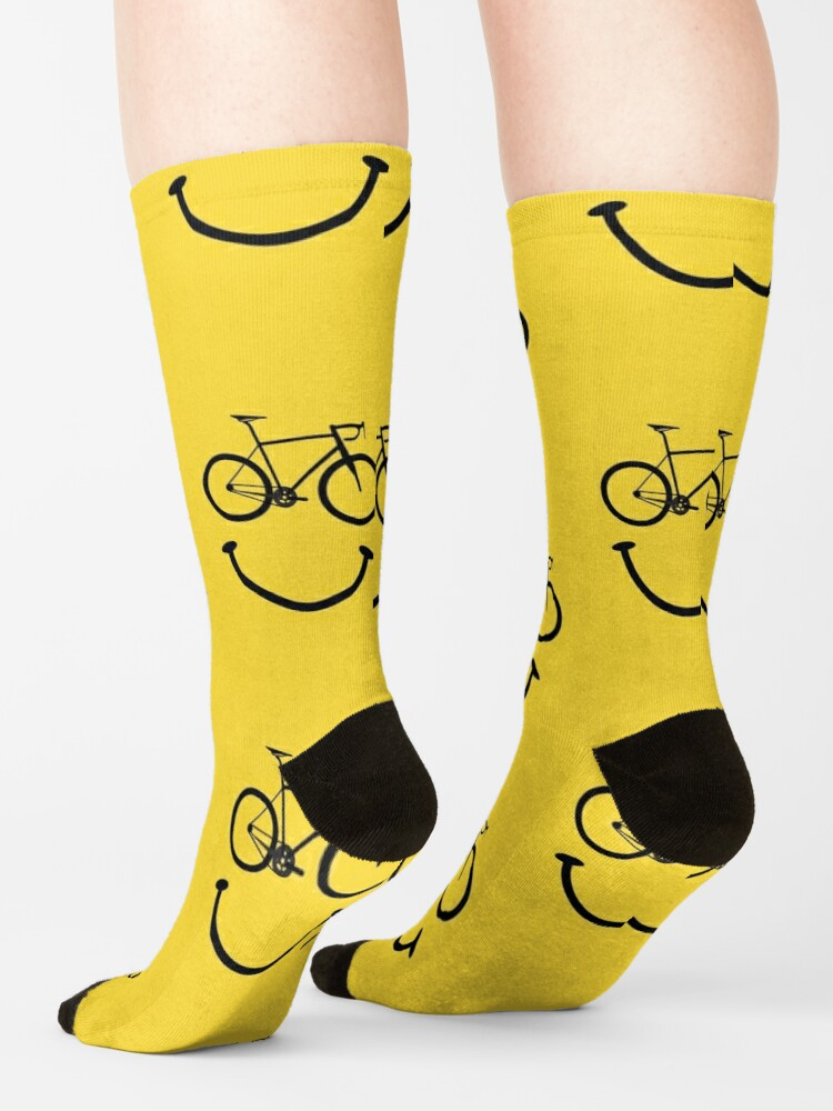 Alternate view of Bicycle Smiley Face Socks