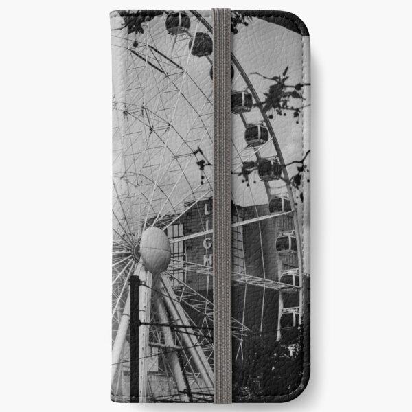 Ferris wheel in Manchester (now deconstructed) iPhone Wallet