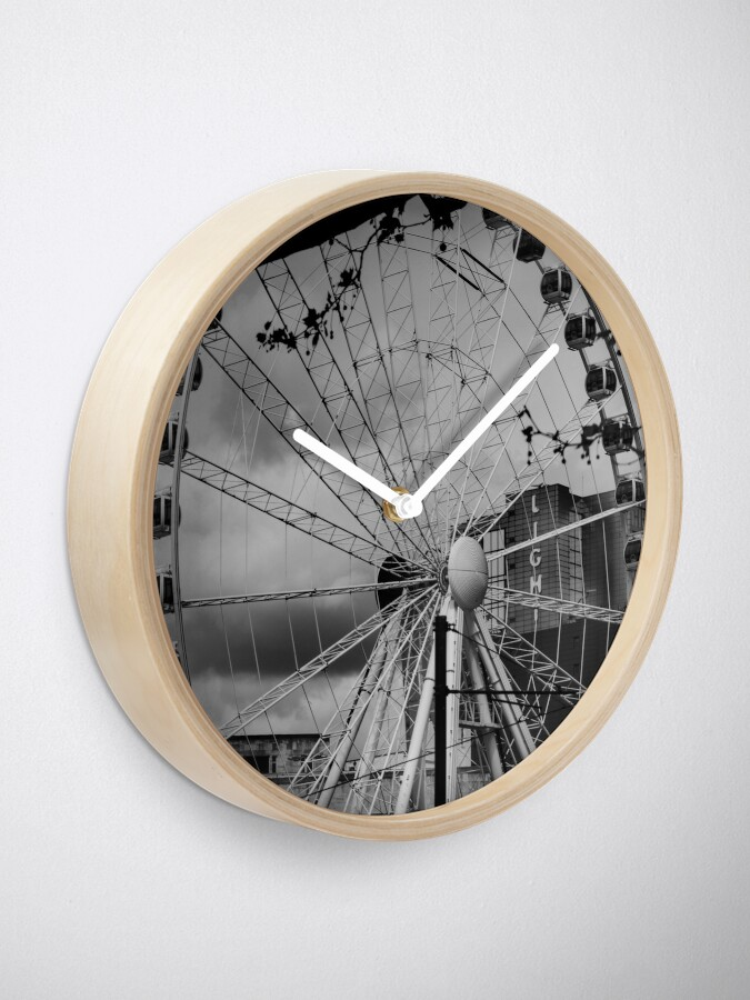 Alternate view of Ferris wheel in Manchester (now deconstructed) Clock