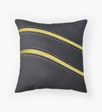 Leather & Suede modern look Throw Pillow