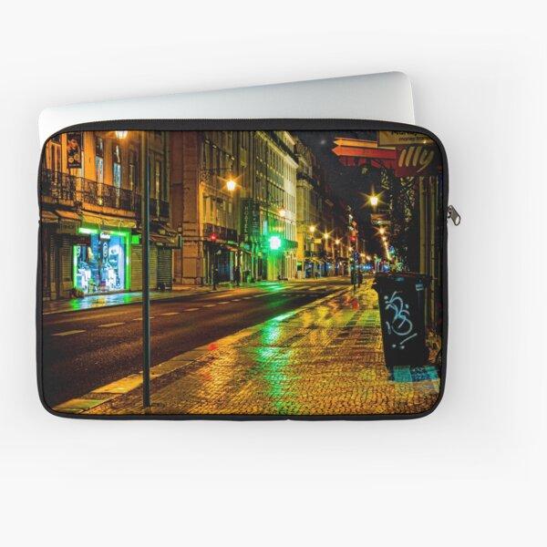 Lisbon street at night Laptop Sleeve