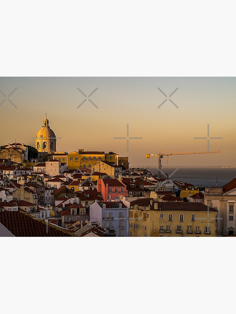Amazing sunset in Alfama district of Lisbon by jameschaos