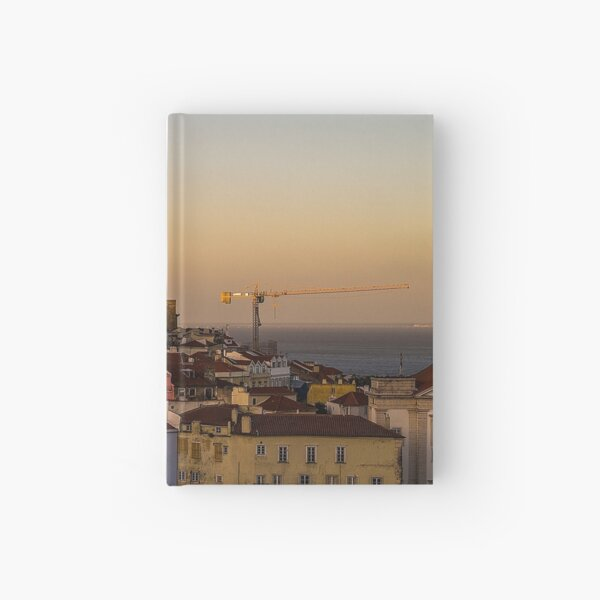 Amazing sunset in Alfama district of Lisbon Hardcover Journal