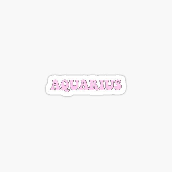 Aquarius - pink  Sticker