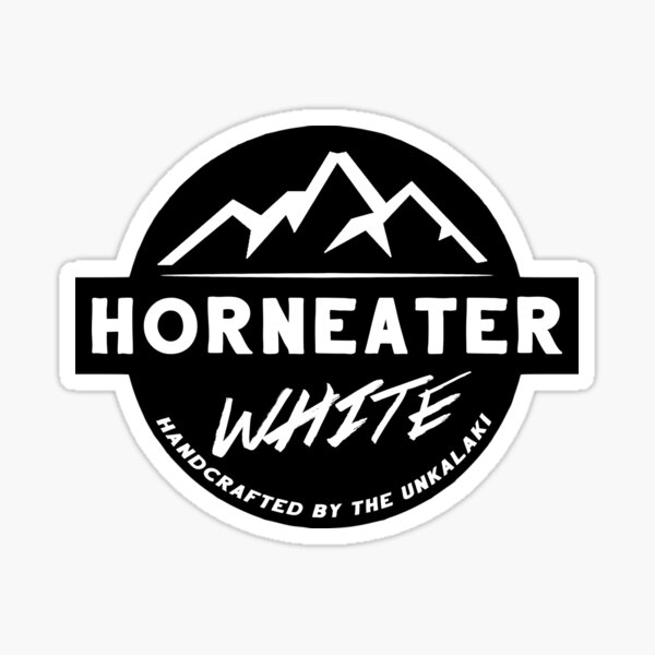 Horneater White Pegatina