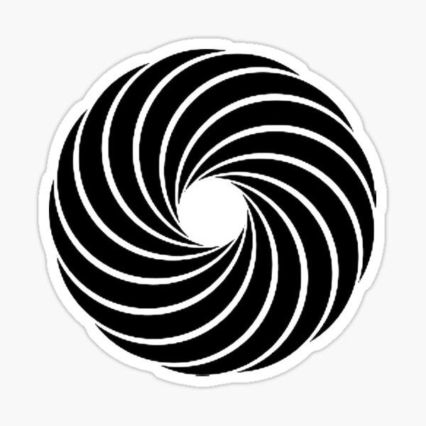 #Vortex, #spiral, #design, #pattern, illusion, modern, illustration, psychedelic, art, twist, curve, abstract Sticker