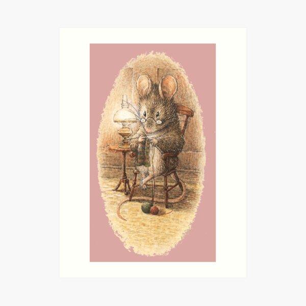 Souris à tricoter - Beatrix Potter Impression artistique