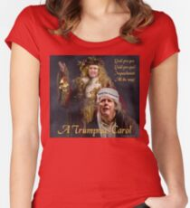 A Trumpmas Carol Fitted Scoop T-Shirt