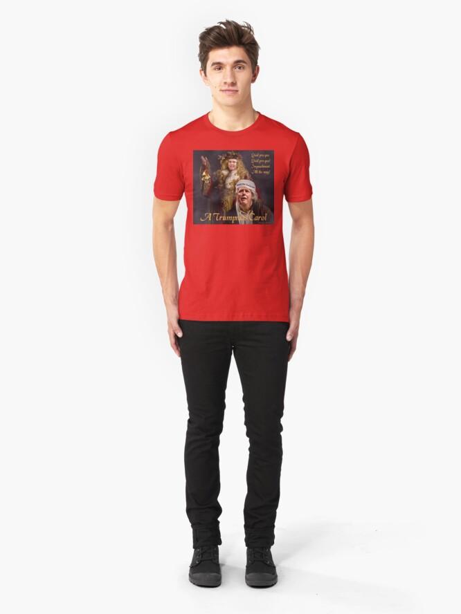 Alternate view of A Trumpmas Carol Slim Fit T-Shirt