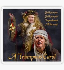 A Trumpmas Carol Transparent Sticker