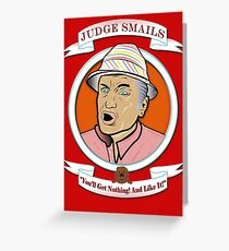 Caddyshack - Judge Smails Greeting Card