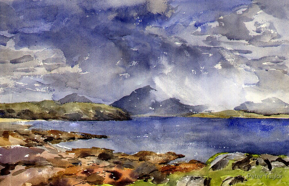 Squall over assynt by Peter Lusby Taylor