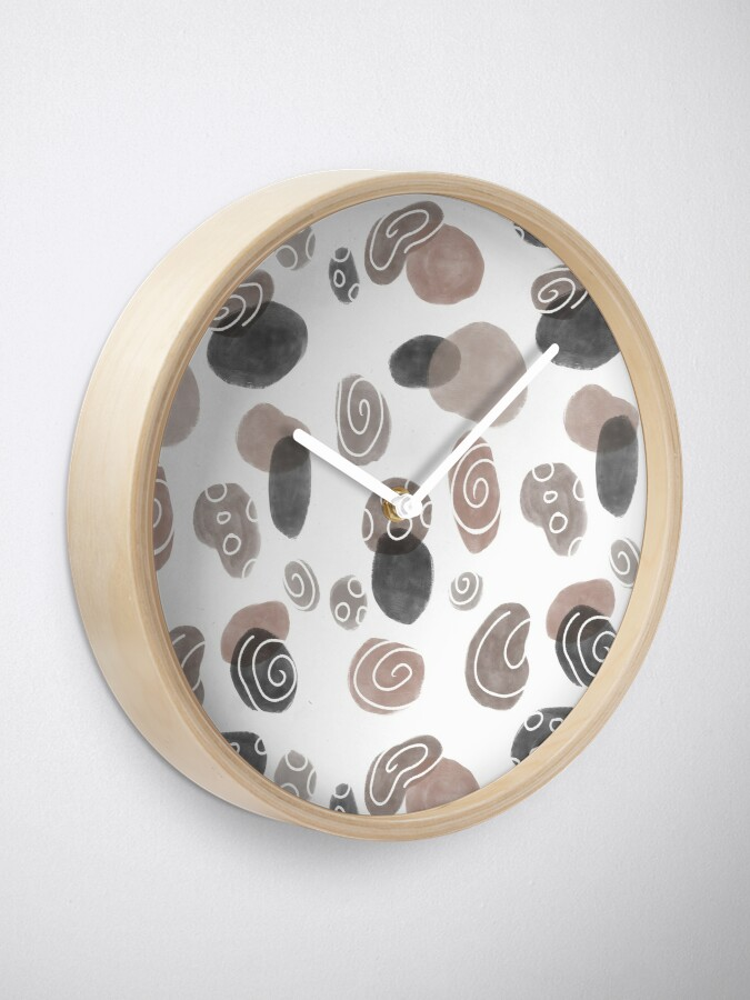 Alternate view of Pebbles Print Clock