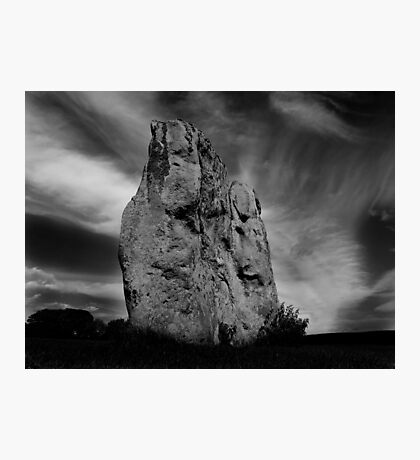 Avebury Stone in Black and White Photographic Print