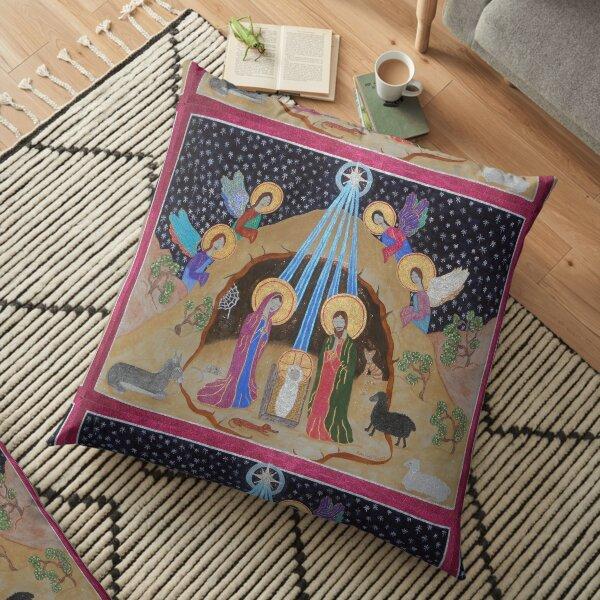 Silent Night Nativity  Floor Pillow