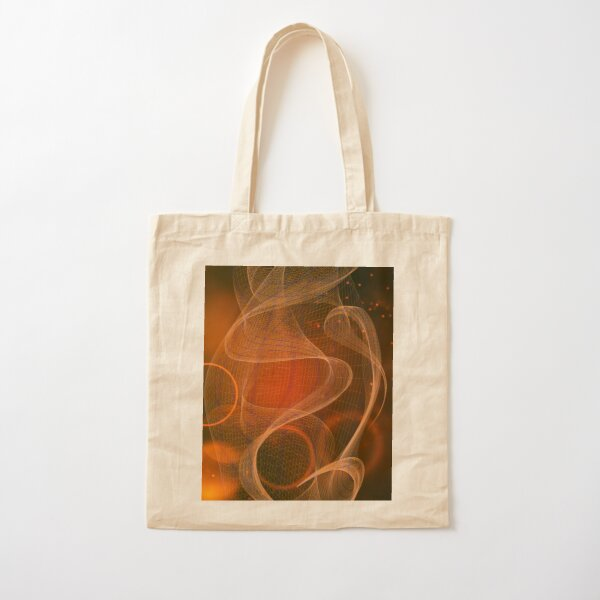 Red Swirl Abstract Cotton Tote Bag
