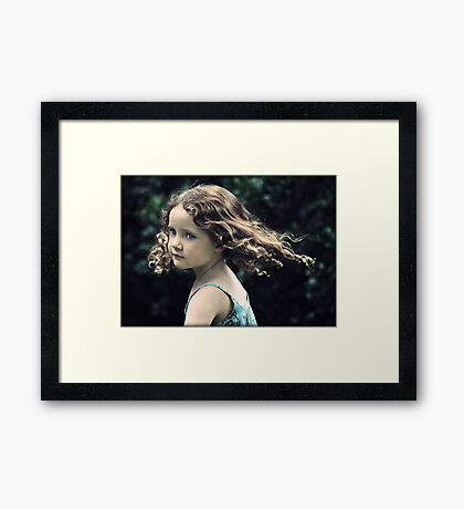Catch Her if You Can Framed Print