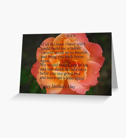 A Mother's Wish Greeting Card