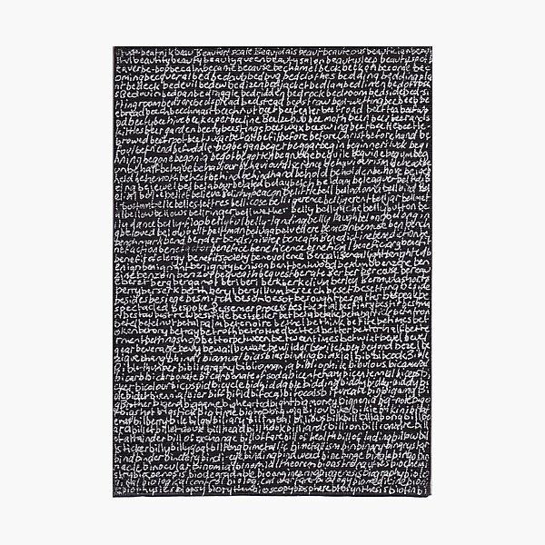 """Dictionary 6"" (beebread-biotin) Photographic Print"