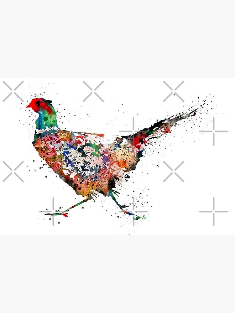 Pheasant, watercolor Pheasant by Rosaliartbook