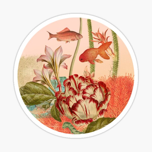Botanical Fish Bowl Sticker