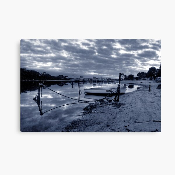 Boats in Lake Entrance Canvas Print