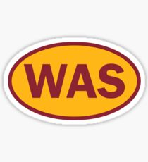 Washington - WAS - football - oval sticker and more Sticker