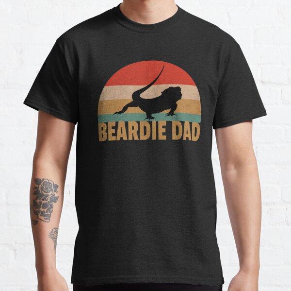 Bearded Dragon Retro Beardie Dad Vintage Pet Lizard Gift  Classic T-Shirt