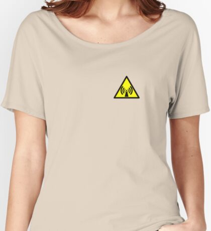 Warning Radio Frequency Relaxed Fit T-Shirt