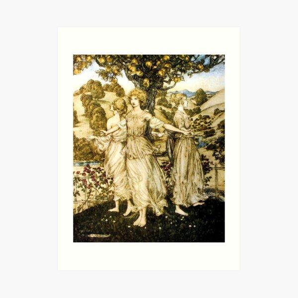 Daughters of Hesperus - Arthur Rackham Art Print
