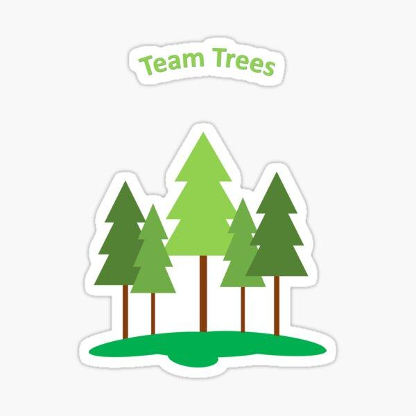 Team trees Sticker