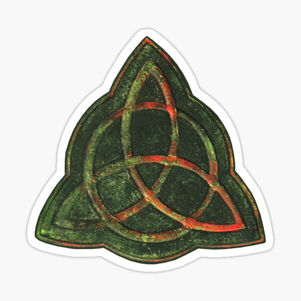 Book of Shadows - Charmed Triquetra Design Sticker