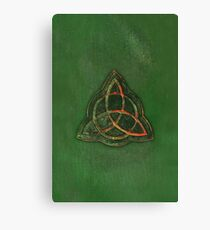 Book of Shadows - Charmed Triquetra Design Canvas Print