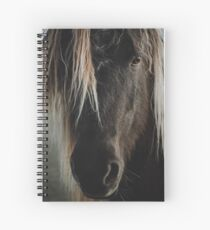 Close up straight look of horse Spiral Notebook