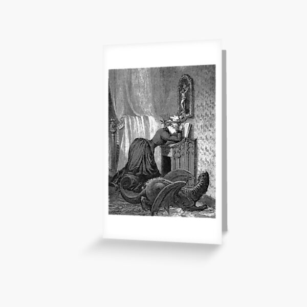 Woman Praying with Dragon - A Week of Kindness, Max Ernst Greeting Card