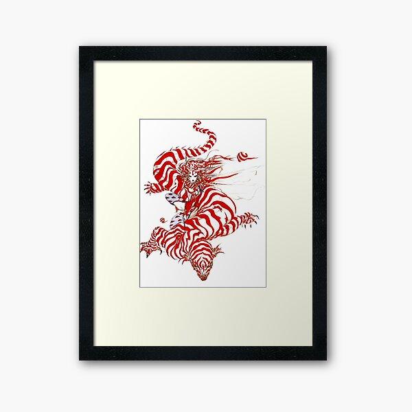 Yoshitaka Amano - Salamander (detail) Framed Art Print