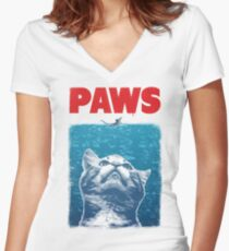 Paws Women's Fitted V-Neck T-Shirt