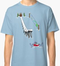 usa california skiier tshirt by rogers bros Classic T-Shirt