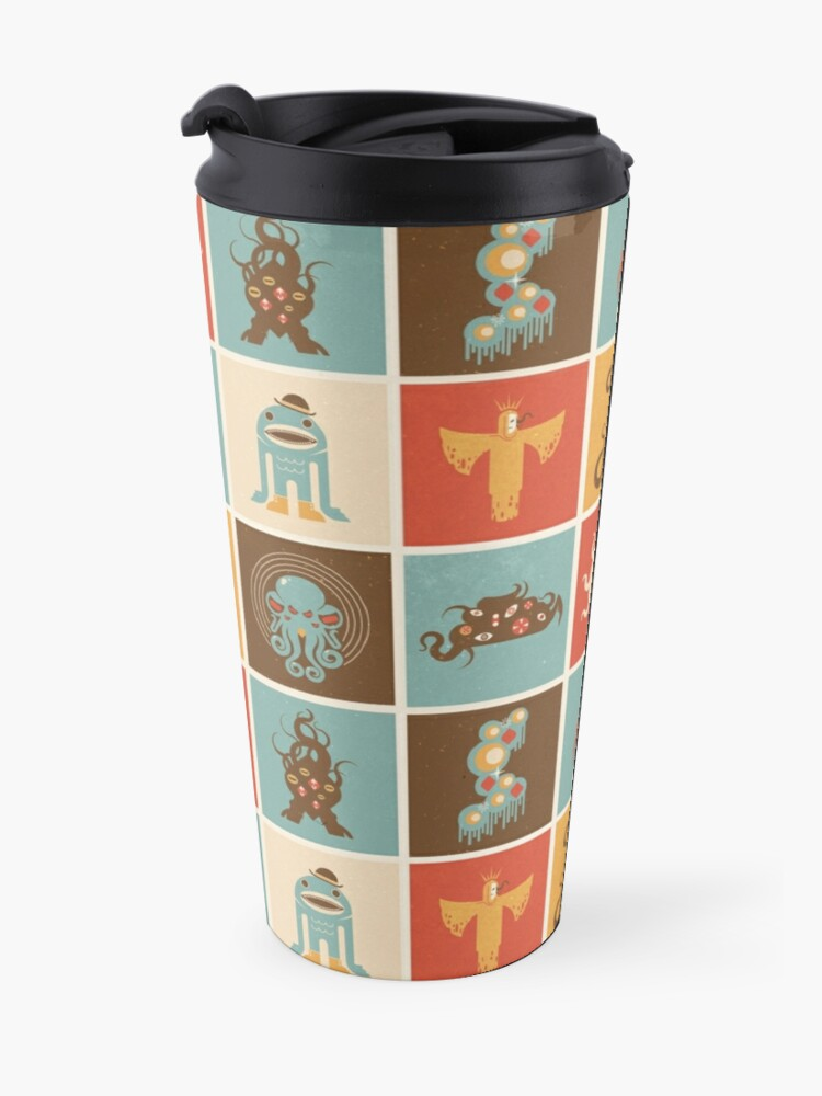 Alternate view of The Lovecraftian Squares Travel Mug