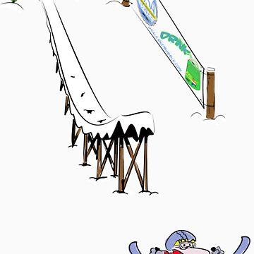 usa california ski tshirt by rogers bros by usaboston