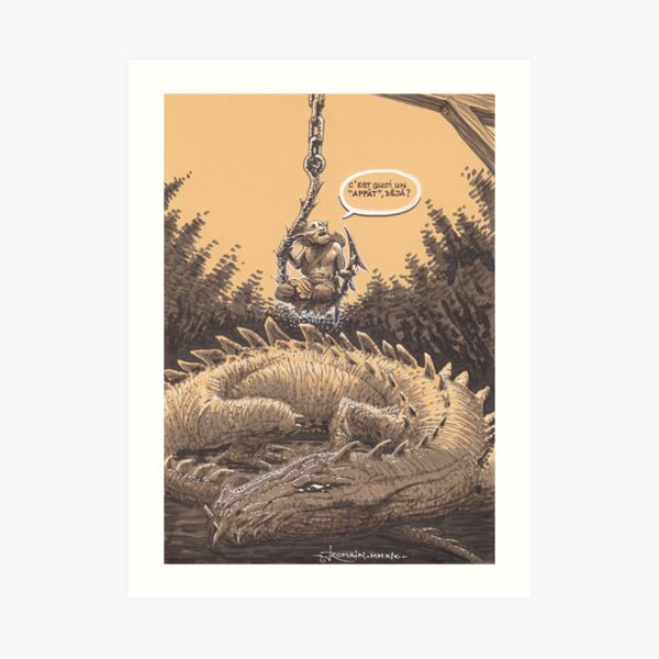 Dragon bait Art Print