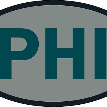 Philadelphia - PHI - football - oval sticker and more by welikesports