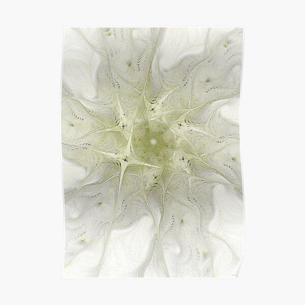 green snowflake Poster