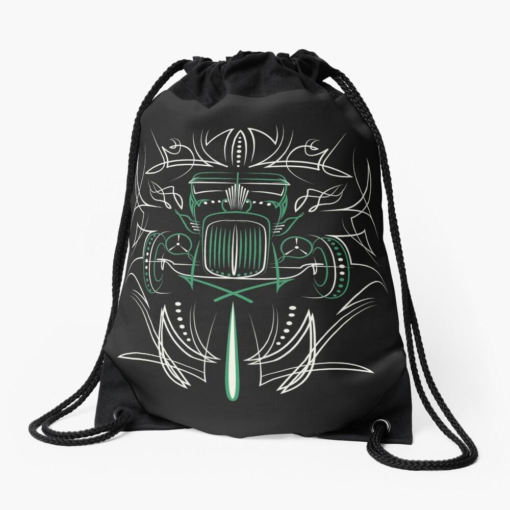Hot Rod Pinstriping Drawstring Bag