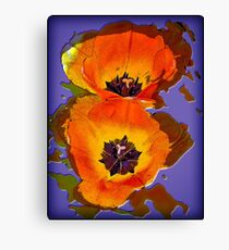 Tinkering with Tulips Canvas Print